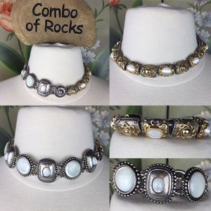 2 Premier Designs Gold Silver Tone Magnet Bracelet